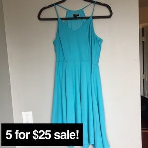 Express blue skater dress size 0